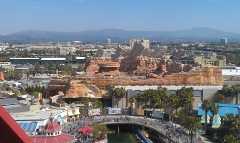 Cars Land from the Fun Wheel.