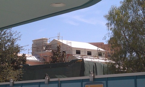 This week more of the mesh is removed so the Buena Vista St facades are more visible.